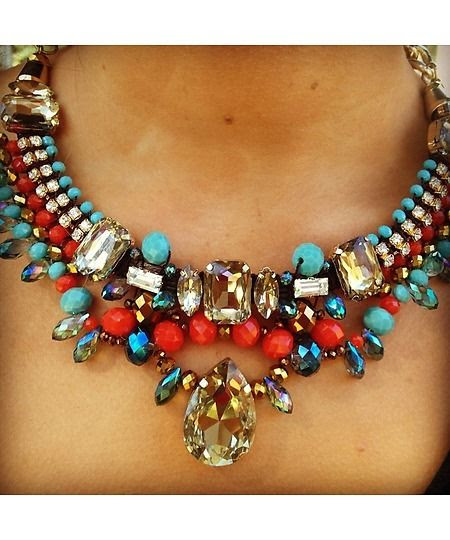 Aztec Statement Necklace-$32.50 https://shoplately.com/product/231179/aztec_statment_necklace