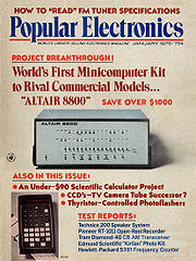 The Altair 8800 computer kit (January 1975)