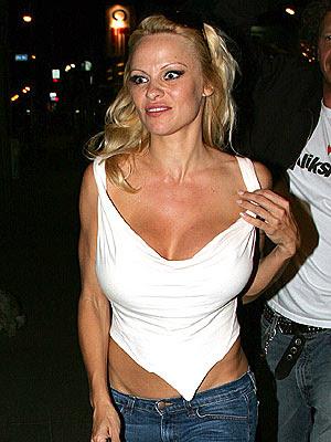 Cat eyes Pamela Anderson calls