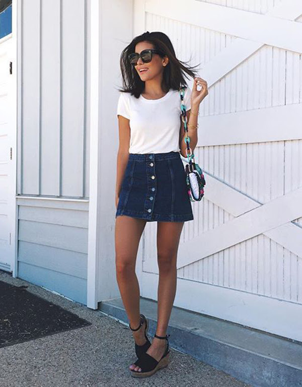 A Line Skirt Outfit Ideas