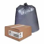60 Gallon Silver Garbage Bags, 39x56, 1.55mil, 50 Bags (GJO70343)