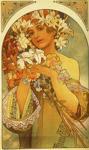 Alphonse Mucha.  Flor.