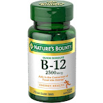 Natures Bounty Vitamin B-12, 2500 mcg, Quick Dissolve Tablets - 75 count