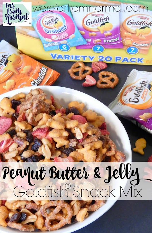 Goldfish Peanut Butter & Jelly Snack Mix | Far From Normal