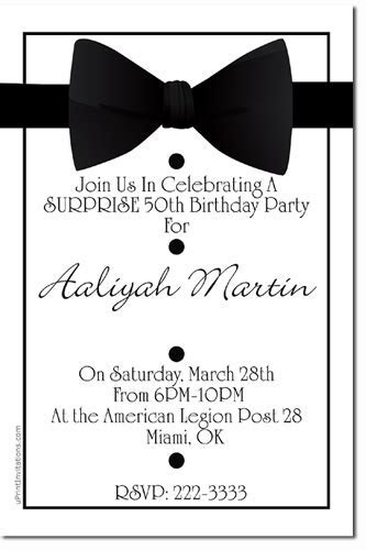 Bowtie Invitations, Tuxedo Invitations, Candy Wrappers