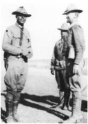 Charles Young with white officers in Mexico, 1916.