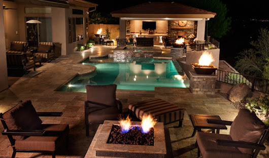 Unique Outdoor Living Room | Phoenix Landscaping Design & Pool Builders, Remodeling