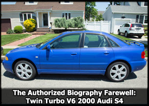 Twin Turbo V6 Audi S4 2000 B5 Mint Condition Farewell Story