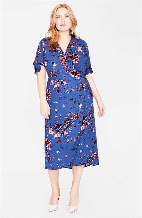 Rachel by Rachel Roy Floral Print Wrap Midi Dress   Best