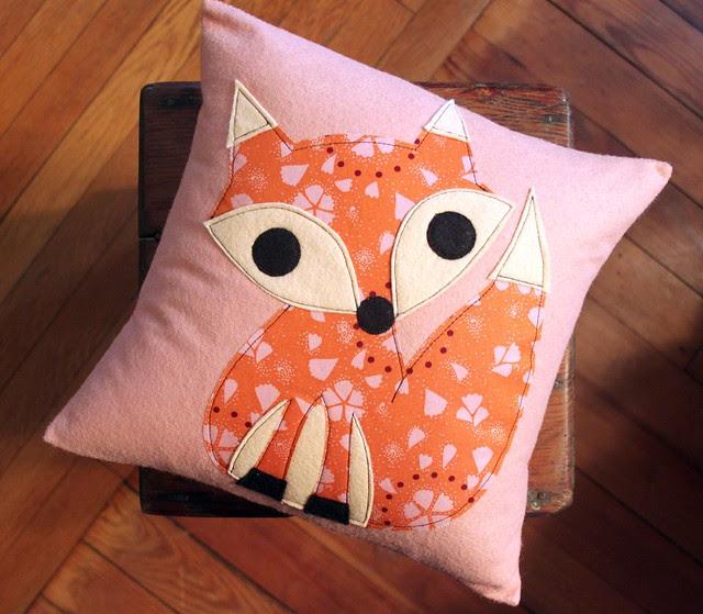 Pink Fox ❤ Pillow