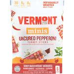 Vermont Smoke: Minis Uncured Pepperoni Turkey Sticks, 3 Oz
