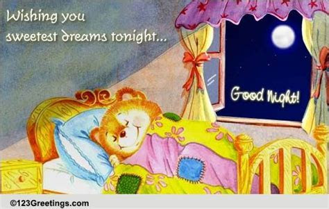 Sweetest Dreams For Tonight  Free Good Night eCards