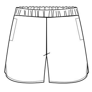 Short De Tenis 6033 Shorts Hombres Patrones Industriales De Moda