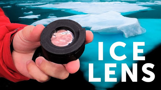 Photographer Creates a Unique Temporary Camera Lens Out of Glacial Ice From Iceland's Diamond Beach