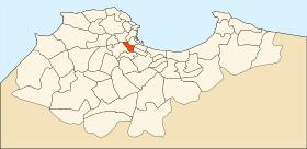 Localisation de la commune dans la wilaya d'Alger
