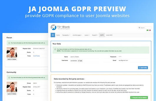 Preview : JA Joomla GDPR extension | Joomla Templates and Extensions Provider