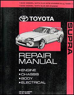 1995-1996 Toyota Supra Wiring Diagram Manual Original