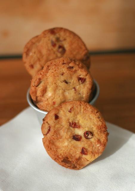 cookies cranberries e cioccolato bianco
