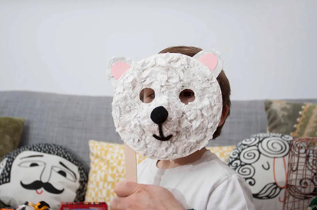 Mascaras De Oso Polar Actividades Para Ninos Manualidades Faciles
