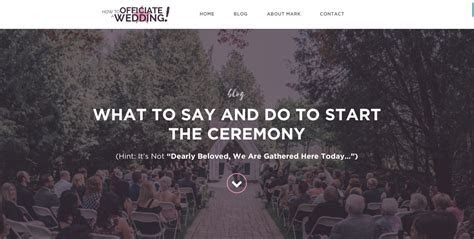 What to Do and Say to Start the Ceremony ? How to