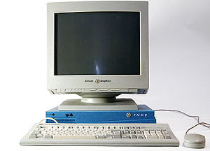 English: SGI Indy Workstation with original 17...