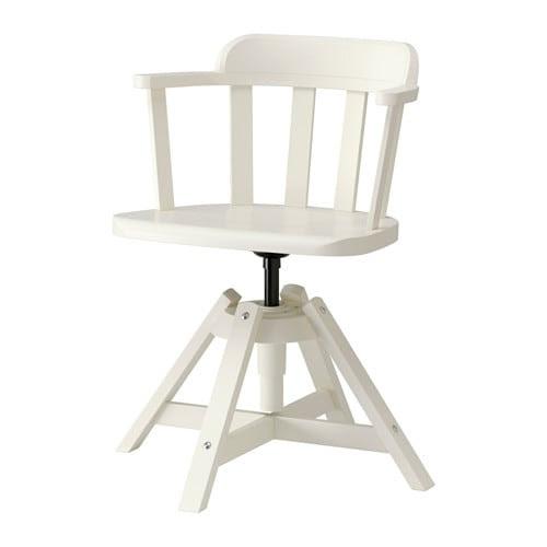 FEODOR Krzesło obrotowe z podłokietnikami IKEA Regulowana wysokość siedziska zapewnia wygodną pozycję podczas siedzenia.