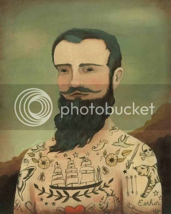 illustrated tattoo man