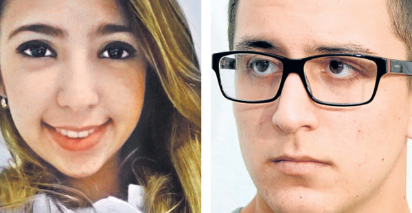 Bárbara Richardelle foi morta aos 18 anos pelo ex-namorado, o eletricista Christian Braule Pinto Cunha