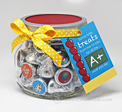 Quick Teacher Appreciation Candy Jar Gift | Carla Schauer Designs