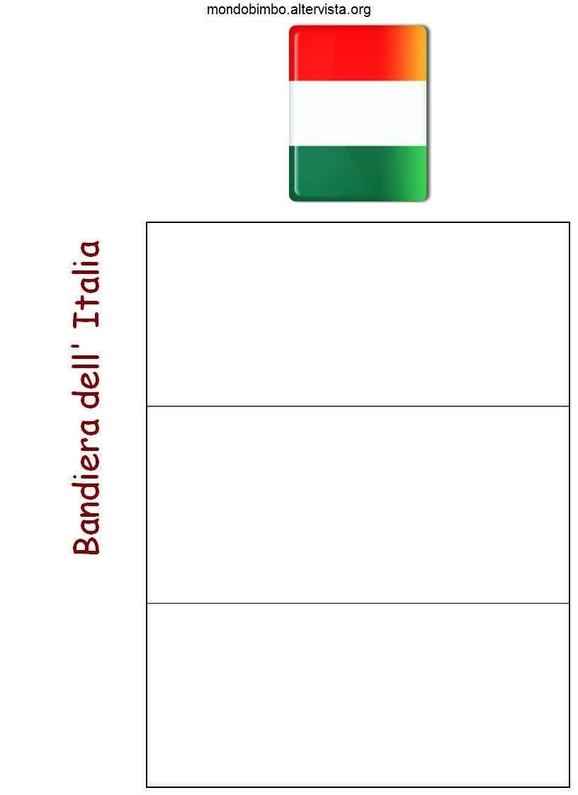 Bandiera E Mappa Dell Italia Da Colorare Mondo Bimbo