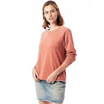 Alternative Lazy Day Burnout French Terry Pullover Sweatshirt XS Spiced Clay , Alternative Apparel