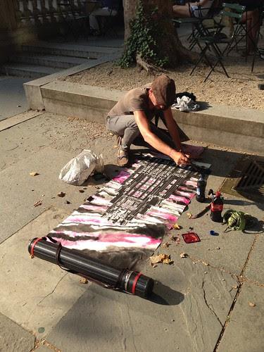 Artist painting, Bryant Park
