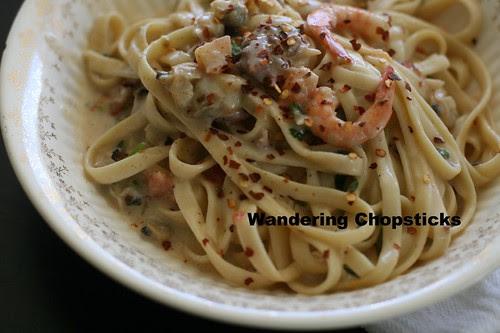 Italian Clam and Shrimp Fettuccine 10