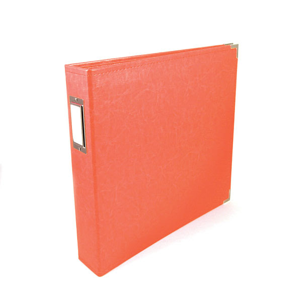 We R Memory Keepers 12x12 Classic Leather Ring Album - Coral