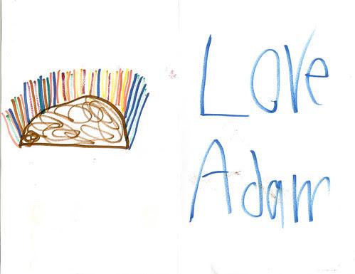 Doug's birthday card from Adam