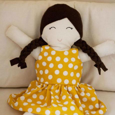 diy free rag doll dress sewing pattern