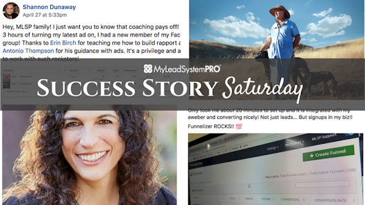 "[Success Story Saturday] ""One Year After Joining MLSP I Hit 6-Figures!"" • My Lead System PRO - MyLeadSystemPRO"