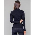 StateCashmere Ribbed Turtleneck Cashmere Sweater Black