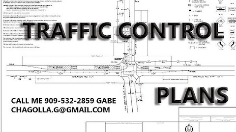 LA OC IE Traffic Control Drafting Plans Services