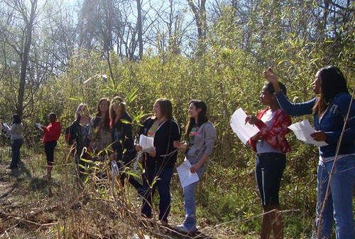 Magnet Shreveport: geography class Coates Bluff Trail hike  by trudeau