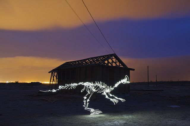 New Light Paintings by Darren Pearson long exposure light painting