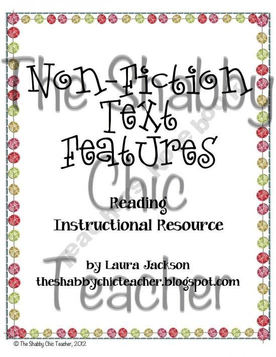 non fiction text features unit freebie