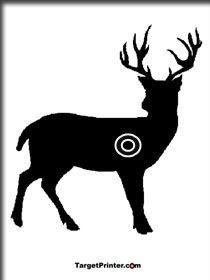 printable silhouettes of animals | Printable Large Animal Shooting ...