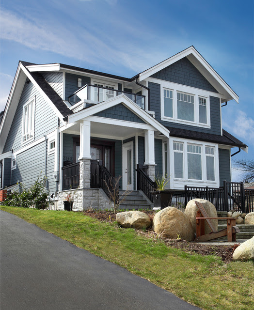Custom Modern Craftsman New Home Build  Traditional  Exterior  vancouver  by JDL Homes Vancouver