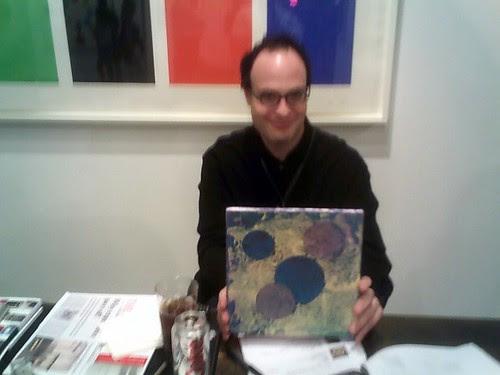 Matthew Marks with Meatball, Art Basel, Miami