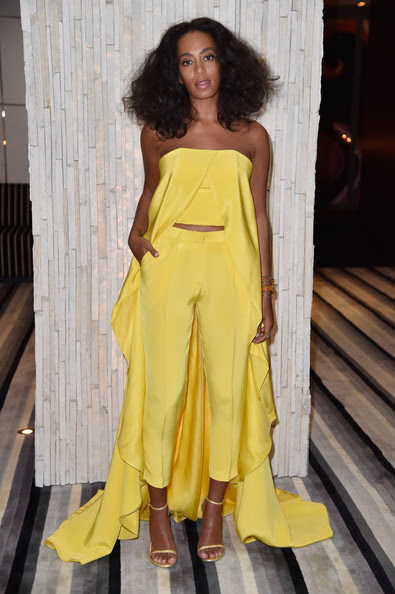 Look of the Day, December 4th: Solange Knowles' Yellow Ensemble