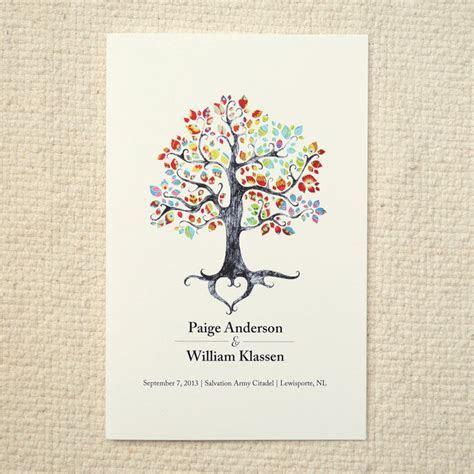 The Bohemian Tree / Wedding Ceremony Program / Order of