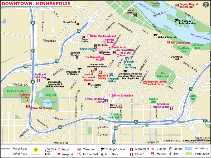 Image result for minneapolis tourist map