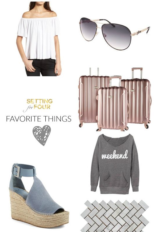 Favorite Things Friday- Home Decorations and Fashion - Setting for Four