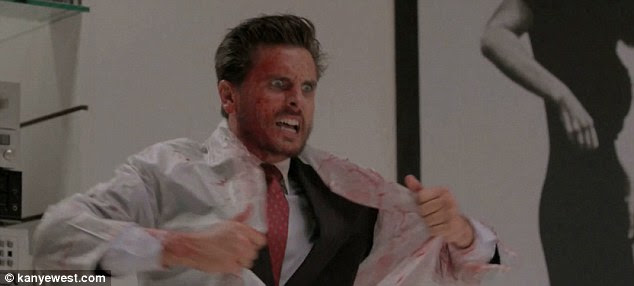 Gory: The reality show star shows off his acting chops in the two minute video